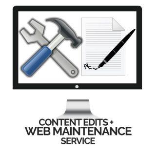 Content Edits plus Website Mainenance Service