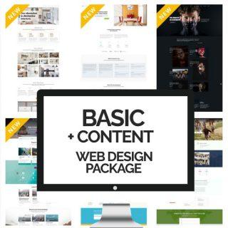 Basic + Content Web Design Package - Custom Website Design Services